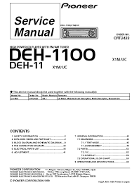 pioneer deh 1100mp wiring diagram pioneer wiring diagrams pioneer deh 1100 high power cd player service pioneer deh mp wiring diagram