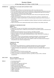 Chef Resume Sample Corporate Chef Resume Samples Velvet Jobs 38