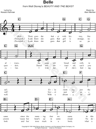 beauty and the beast sheet music print and download belle sheet music from beauty and the beast