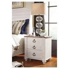 Image Bedroom View Photos Target Willowton Nightstand Twotone Signature Design By Ashley Target