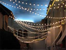 ul cetificited g40 globe decorative light outdoor string lights with 25 clear bulbs