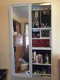 ana white jewelry makeup storage cabinet diy projects full length mirrored bathroom vintage gold mirror wall