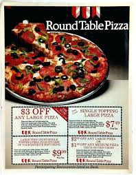 round table pizza round table pizza advert mailer s