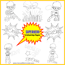 Coloring pictures are beneficial for children. Free Printable Superhero Colouring Pages Messy Little Monster