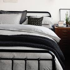 ticking stripe bedding