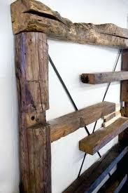reclaimed wood shelving custom made pipe unit on wheels
