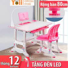 Bộ bàn ghế học sinh trẻ em thông minh chống gù chống cận kích thước lớn B05  52 x 80cm - Tặng kèm đèn LED 3 chế độ giá cạnh tranh