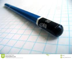 Drawing Pencil On Graph Paper Stock Photo Image Of Objects Square
