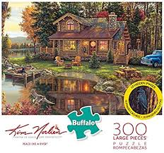 Hidden image jigsaw puzzles are popular among the puzzler community. Amazon Com Buffalo Games Kim Norlien Peace Like A River 300 Large Piece Jigsaw Puzzle With Hidden Images Toys Games