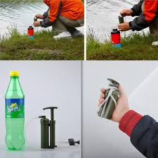 Portable Survivor Camping Water Filter Purifier Cleaner Outdoor