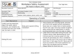 job safety analysis template slippery rock gazette mia bsi adds 16 job hazard analysis