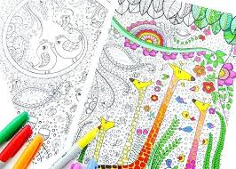 Free Coloring Printable Pages Bird And Giraffes Free Printable
