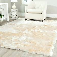 T White Faux Rug Snowy Polar Bear Rectangular Sheepskin Fur  3 Intended For Area Safavieh