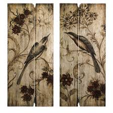 french country wall art french country s 2 bird fl wood intended for plans 0