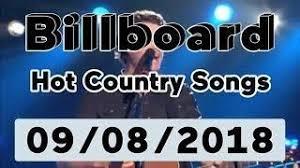 Billboard Top 50 Hot Country Songs Top 10 Albums September