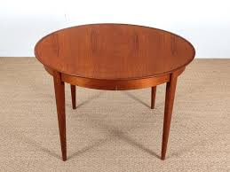 round scandinavian extendable teak dining table for