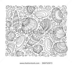 seas pattern art background vector ilration zentangle coloring book page for