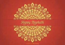 free happy navratri vector card 130387