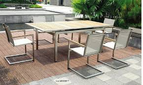 metal and wood patio furniture. Contemporary And Steel Outdoor Furniture Stainless Teak Wood Table  And Mesh Chairs Buy For Metal And Wood Patio Furniture