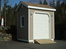 R Mini Shed With Garage Door