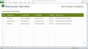 gap analysis template gap analysis template basic