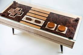 One of the most famous pieces of geek furniture in the world, Charles  Lushear's Nintendo controller table is also one of the most functional.