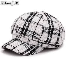 <b>XdanqinX Autumn Winter Women's</b> Hat British Trend Retro Newsboy ...
