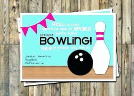 Bowling Party Invitations Bowling Invitation Template Also Bowling Birthday Invitation