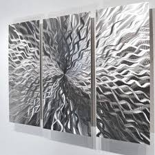 white and silver wall art modern abstract metal wall sculpture art contemporary painting home decor silver