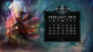 Calendar Wizard 2015 Calendar 8 February 2015 Diablo Wallpaper And Os Art Fan Art