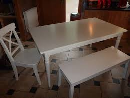 White Bench For Kitchen Table Ikea White Kitchen Table With 4 Chairs And Bench In Dunblane