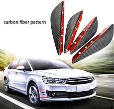 Car Parts NEW <b>4 Pcs</b> Car Auto <b>Front</b> Bumper 100% Carbon Fiber ...
