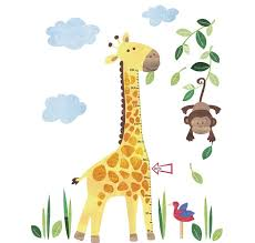 alt giraffe height chart wall sticker