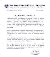 Approval Affiliation For D El Ed Rajendra Academy For Teachers