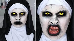 the conjuring 2 valak nun sfx halloween makeup tutorial