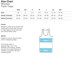 American Apparel Measurement Chart American Apparel Unisex Tank Top Size Chart Philadelphia