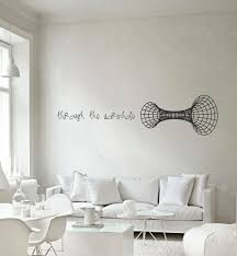 Small Picture Science Through the wormhole vinyl wall decal 3000 via Etsy