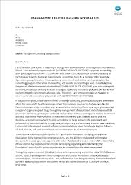 Cover Letter For Management Biology Management Consulting Cover Letter Templates At