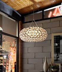 authentic foscarini caboche pendant light suspension 20inch halo acrylic crystal chandelier clear
