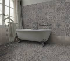 skyros delft grey wall and floor tile roomset