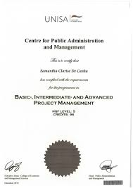 diploma project management unisa diploma project management