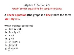 1 algebra