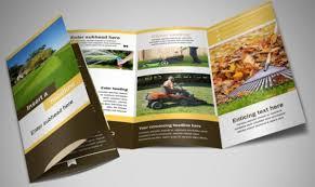 45 brochure templates psd n squash tour lawn maintenance business services tri fold brochure templates