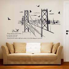 golden gate bridge wall stickers home decor removable building wall pi