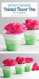 these mini ombre painted flower pots are perfect for anyone looking for diy ideas for home