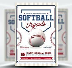 Baseball Brochure Template Baseball Sign Up Flyer Template Softball Brochure Templates