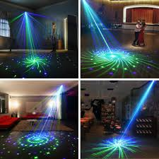 Eliminator Lighting E106 Suny Event Lights Blue Green Gb 20 Mixed Gobo Led Pattern