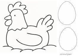 Kleurplaat Kip Met Eieren Boerderij Pasen Eieren En Kippen