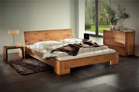 solid wood beds. Fine Wood Natural Oak Oiled Solid Wooden Bed Intended Wood Beds