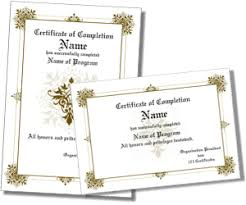 sample certificates of completion certificate of completion templates